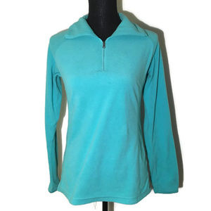 Columbia Teal Fleece Quarter Zip Women's Jacket